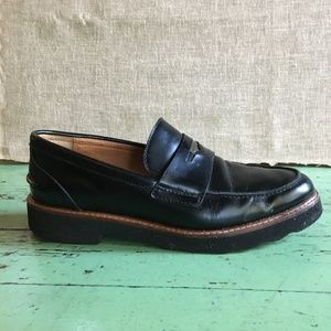Coach Indie Black Penny Loafers